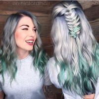 Silver Spearmint by @caitlinfordhair Beautiful artistry ...