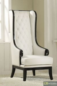 Neo Classic OPAL Black/White High-Back Accent Wing Arm ...