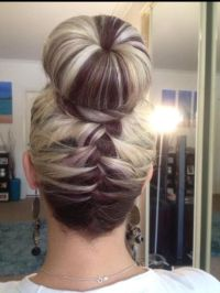 25+ Best Ideas about Braided Sock Buns on Pinterest | Sock ...