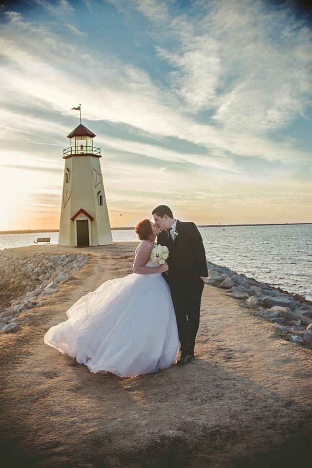 A wedding photo from The Lighthouse Lake Hefner in