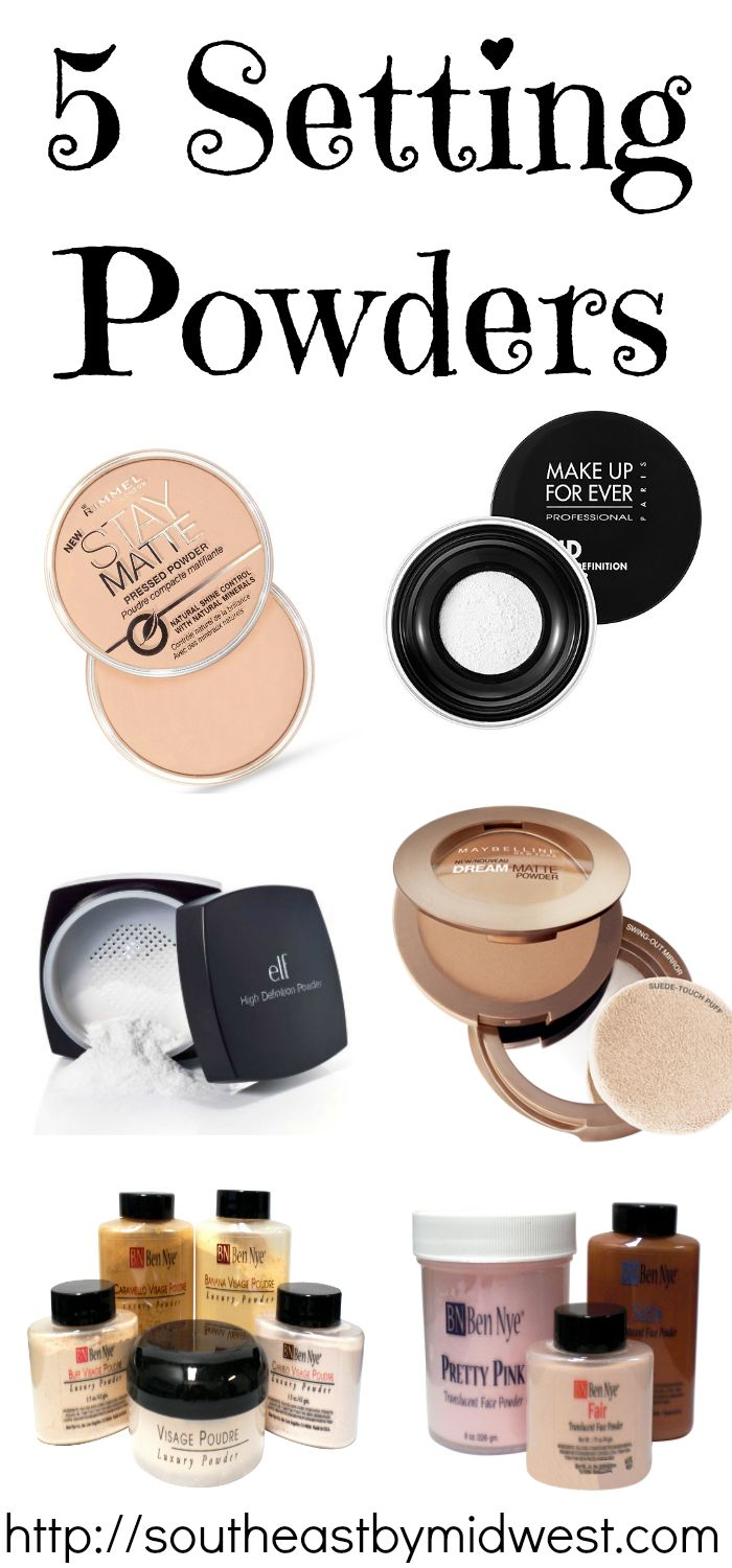 I have some trouble trying to find good setting powders… These all seem like good ones.