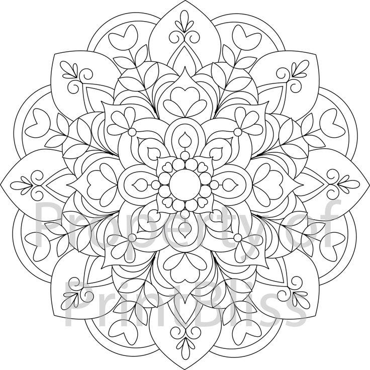25+ bästa idéerna om Mandala Printable på Pinterest