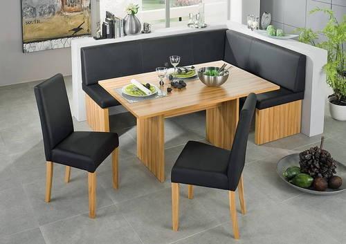 corinna white black Leather dining set kitchen booth