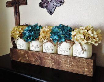 1000 ideas about Mason Jar Arrangements on Pinterest  Mason jar favors Mason jar flower