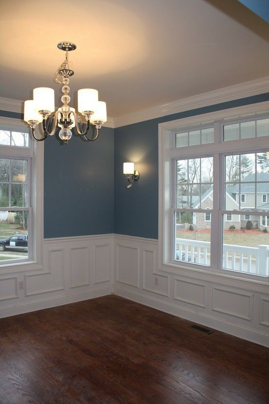 Dining Room And Formal Living Room Color Labrador Blue By Benjamin Moore Also Wanted To Show