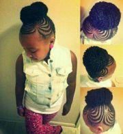 cute cornrow baby bun - http