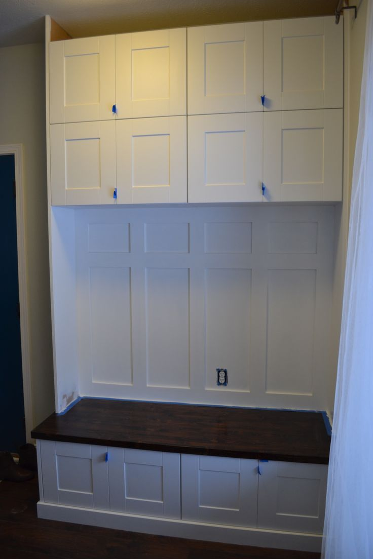 Mudroom Lockers From Prefab Cabinets Mudroom Pinterest