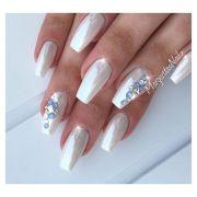 white chrome nails margaritasnailz