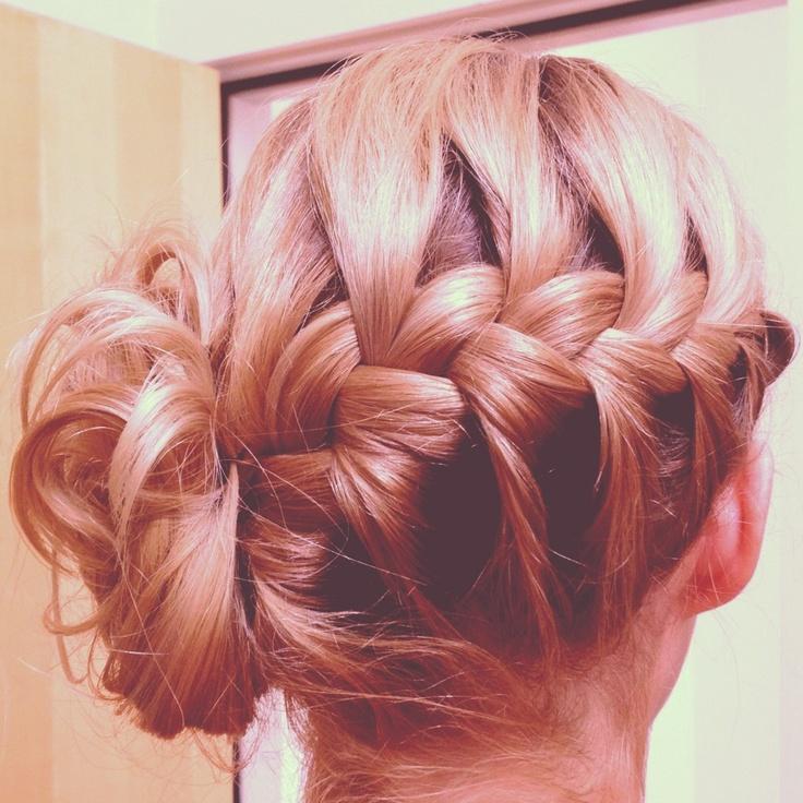 Bridesmaid Hair French Braid Updo