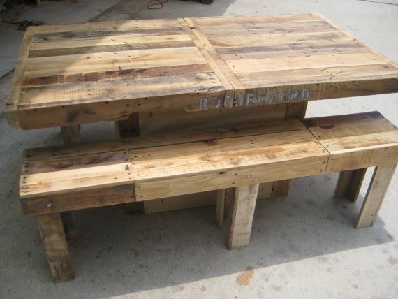 "Farmhouse Dining Table Made From Reclaimed Wood 72"" X 40"