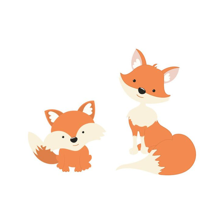 Animal Print Wallpaper For Bedrooms Fox Family Wall Decal Nursery Decor Fox Mom Dad And Baby