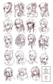 ideas anime hairstyles