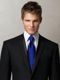 Black suit, royal blue tie | The big day | Pinterest ...