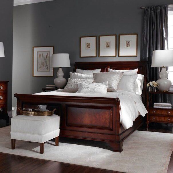 Neutral Dark Gray Master Bedroom Furniture