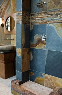 Copper Rust Corinth 12 x 12 in - Slate Mosaics Tile Slate ...