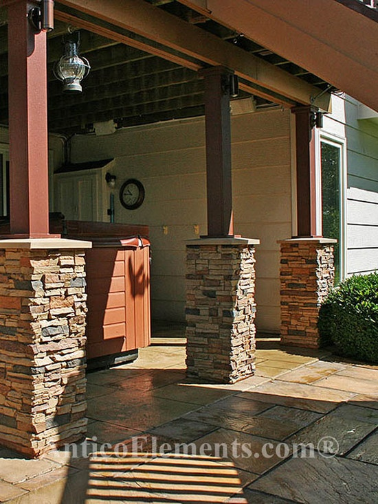 25 Best Ideas About Stone Columns On Pinterest Stone Pillars Stone Front Porches And Stone