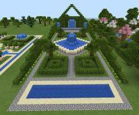 Minecraft Garden and Fountain | Minecraft | Pinterest ...