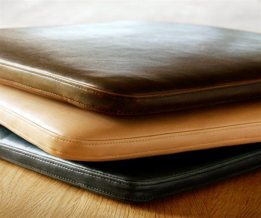 leather chair pads pillows from CRIBCANDY  a gallery of