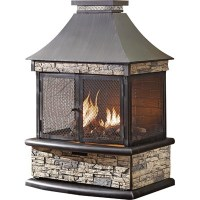 Shinerich Propane Outdoor Fireplace - 24,000 BTU, Model ...