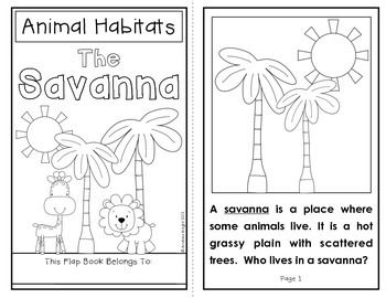 Animal Habitats: The Savanna {A Flap Book Project for