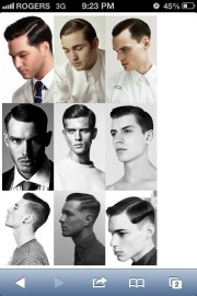manly hairstyle