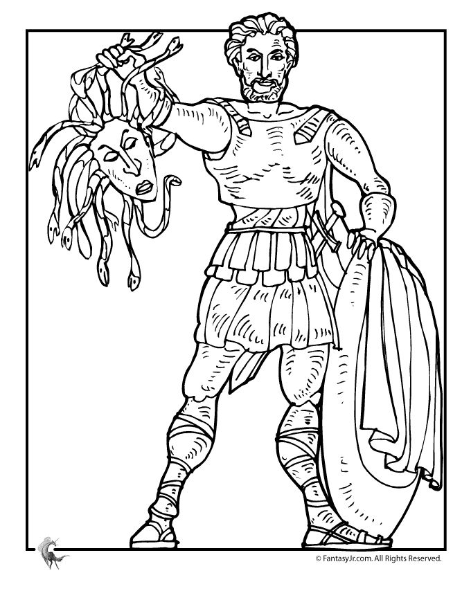 Fantasy Jr. | Greek Myths Coloring Page
