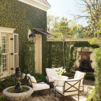 Patio inspired by the intimate, romantic courtyards in New