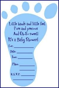Boy baby shower Invitation wording