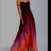 Purple & orange ombre dress. | bridesmaids | Pinterest ...