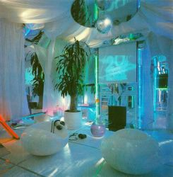 vaporwave interior rooms aesthetic decoration neon retro 90s 80s resultado imagem bedroom 70s aesthetics futuristic theater christmas 1980s zszywka dormitorio