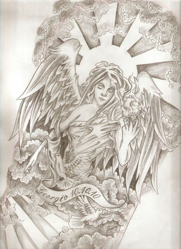 potential angel tattoo