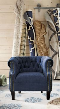 Best 25+ Blue Chairs ideas on Pinterest | Winged armchair ...