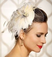 bridal hair accessory feathers