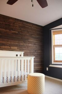 Wood Panel wall in nursery! DIY | Boy Nursery | Rustic ...