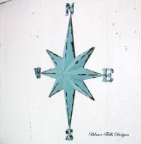 Nautical Rose Compass Star Metal Wall by ...