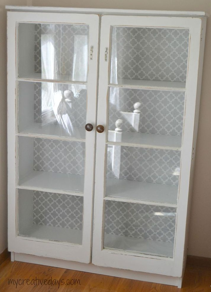 Repurposed Window Cabinet  Cabinet ideas Repurposed and