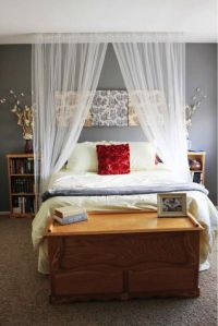 Canopy Curtain over bed   Bed ideas for Monica   Pinterest ...