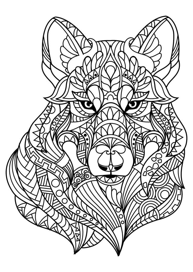 Animal coloring pages pdf | Coloring books and Mandala art | mandala art coloring pages animals