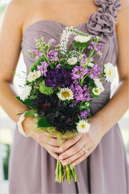 25 Best Ideas About Purple Bridesmaid Bouquets On