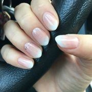 almond shaped nails ombr french