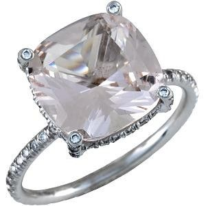 Vera Wang This Stunning Ring Features A Clear Morganite Gemstone As A Centerpiece And Is