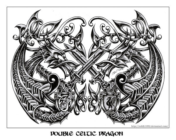 51182e6ea Celtic Dragon 3 By Roblfc1892 On Deviantart - Inspirational Interior ...