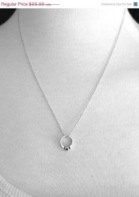 Sterling Silver Promise Ring Necklace, Promise Ring ...