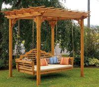Cedar Pergola Swing Bed Stand How To Build A Pergola Swing ...