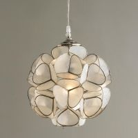 Capiz Shell Flower Pendant Light
