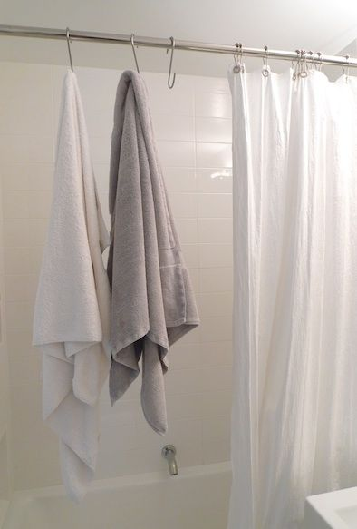 Towels Bathroom towel hooks and Over the on Pinterest