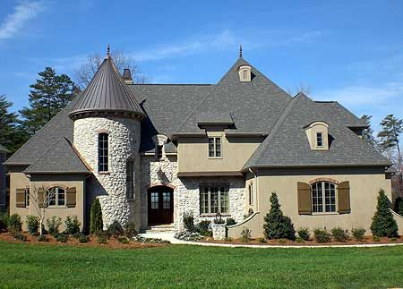 Plan 93066el Dramatic French Country Home With Turreted