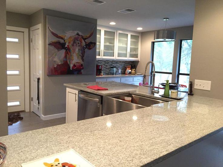 kitchen bookshelf ninja system pulse viscon white granite countertops | pacific shore stones ...