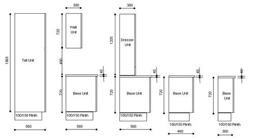 kitchen units dimensions  Google Search  Interior House