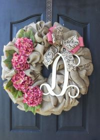 25+ best ideas about Burlap wreaths on Pinterest